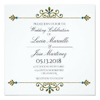Invitación elegante del boda de la caligrafía de