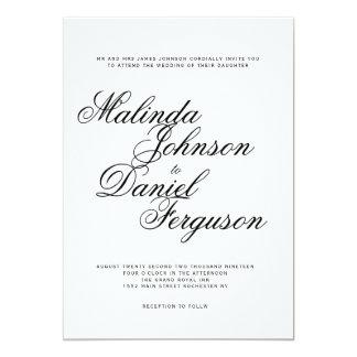Invitación elegante del boda de la escritura