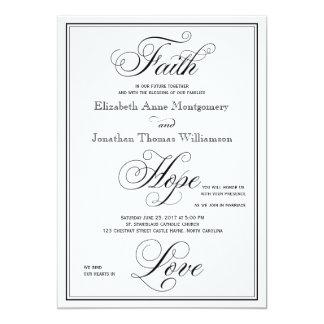 Tarjeta Invitación elegante del boda de la escritura del