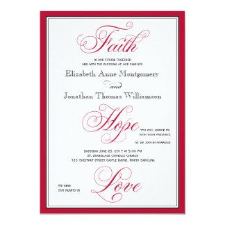 Invitación elegante del boda de la escritura del