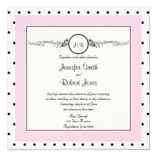 Invitación elegante del boda de la mariposa del