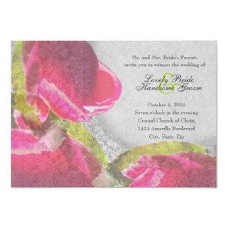 Invitación elegante del boda de los capullos de