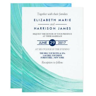 Invitación elegante del boda de playa de las
