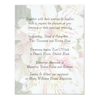 Invitación elegante del boda del Alstroemeria de