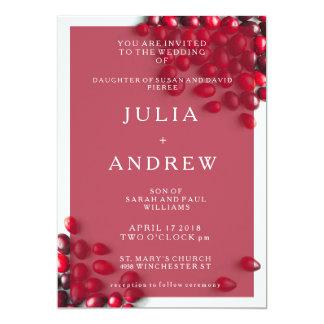 Invitación elegante del boda del arándano del país
