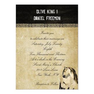 Invitación elegante del boda del caballo blanco