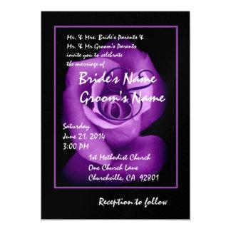 Invitación elegante del boda del capullo de rosa