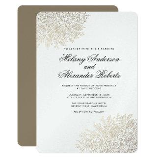 Invitación elegante del boda del cordón del