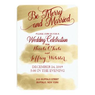 Invitación elegante del boda del día de fiesta del