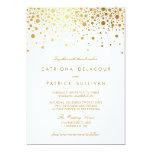 Invitación elegante del boda del falso de oro