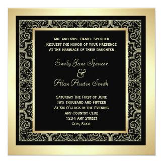 Invitación elegante del boda del marco