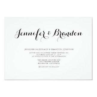 Invitación elegante del boda del texto