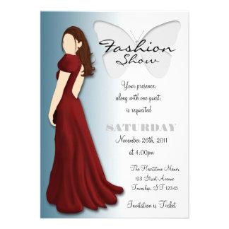 Invitación elegante del desfile de moda de la mari