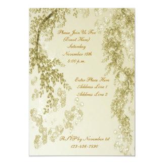 Invitación elegante del diseño de las ramas de la