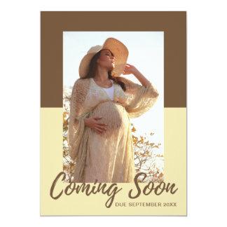 Invitación elegante del embarazo de la foto de la