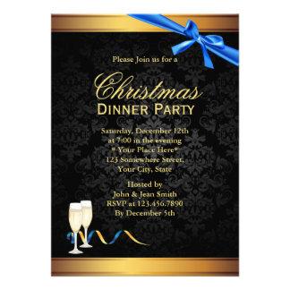 Invitación elegante del fiesta de cena de navidad