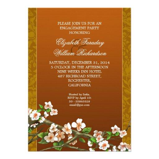 invitación elegante del fiesta de compromiso
