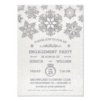 Invitación elegante del fiesta de compromiso del invitación 11,4 x 15,8 cm