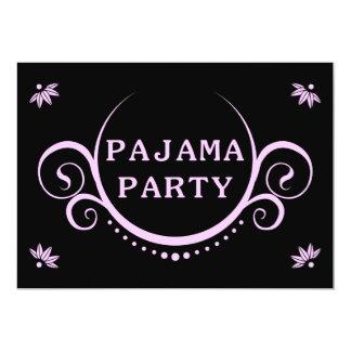 invitación elegante del fiesta de pijama