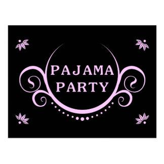 invitación elegante del fiesta de pijama postal