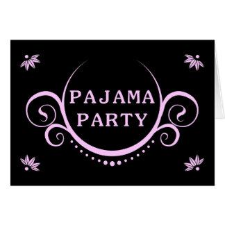 invitación elegante del fiesta de pijama tarjeta pequeña