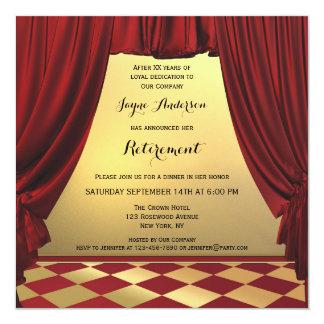 Invitación elegante del fiesta de retiro del lugar