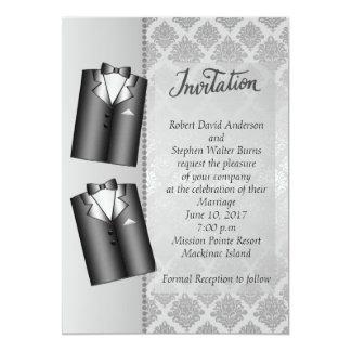 Invitación elegante gay de la bodas de plata