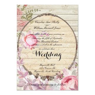 Invitación elegante lamentable del boda de la flor