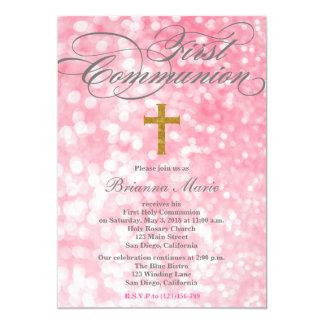 Invitación elegante moderna de la comunión de la