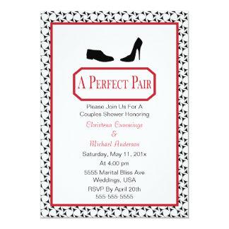 Invitación elegante perfecta de la ducha del boda