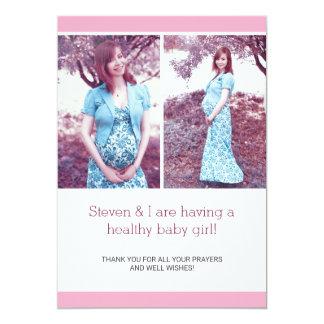 Invitación elegante rosada del embarazo del