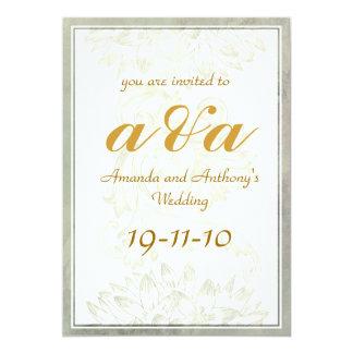 Invitación elegante simple del boda
