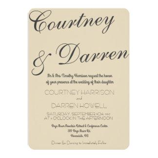 Invitación elegante simple del boda de la