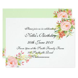 Invitación elegante simple del cumpleaños de la