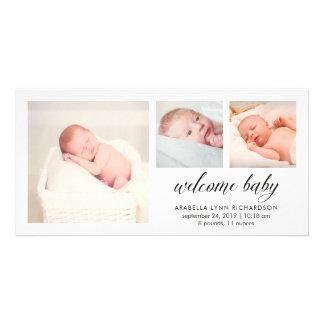 Tarjetas con fotos de bebés