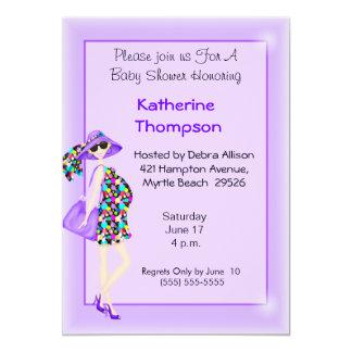 Invitación embarazada de la fiesta de bienvenida invitación 12,7 x 17,8 cm
