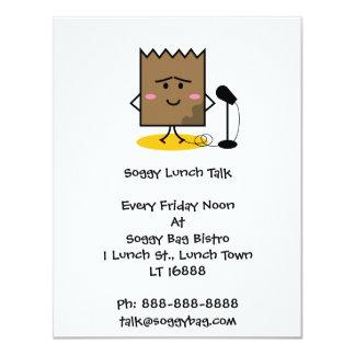 Invitación empapada del bolso del almuerzo invitación 10,8 x 13,9 cm