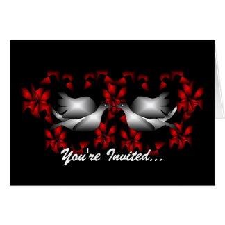 Invitación en blanco de las palomas del amor felicitaciones