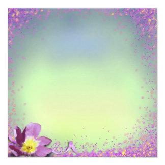 Invitación en colores pastel bonita de la flor