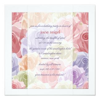 Invitación en colores pastel de los rosas