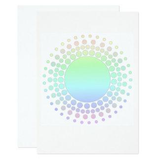 Invitación en colores pastel del arco iris