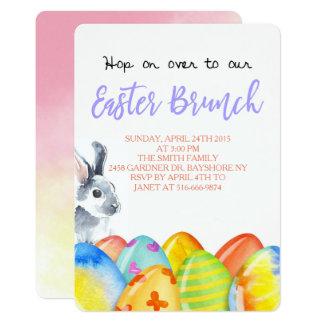 Invitación en colores pastel del brunch del huevo