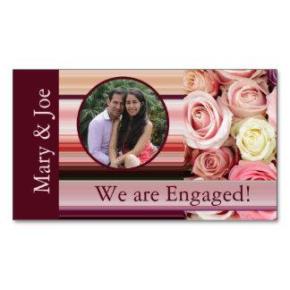 invitación en colores pastel del compromiso de la tarjetas de visita magnéticas (paquete de 25)