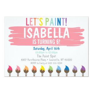 Invitación en colores pastel del fiesta de la