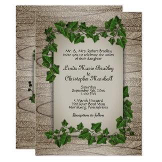 Invitación encantada de las vides del boda del