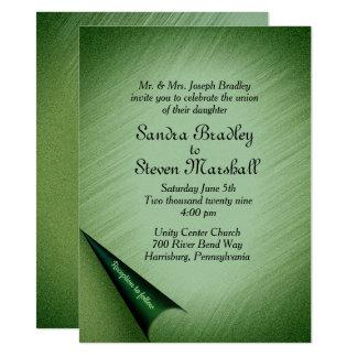 Invitación encantada del boda del bosque