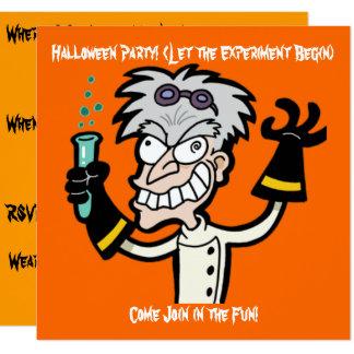Invitación enojada de Halloween del genio