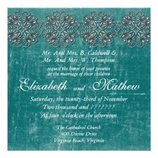 Invitación envejecida de la bodas de plata