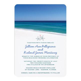 Invitación escénica del boda de playa invitación 12,7 x 17,8 cm