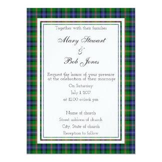 Invitación escocesa del boda de Jones